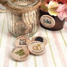 wooden party favors personalized wooden nickel magnets price favors