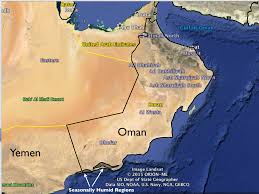 Dubai On Map Dhofar The Other Arabia Geocurrents