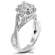 twisted shank engagement ring 18k white gold split twist shank engagement ring with 1 67 total