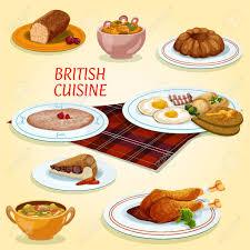 cuisine avec des oeufs cuisine britannique icône avec des oeufs au plat et bacon steak and