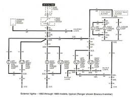 free auto wiring diagram 1983 1989 ford ranger exterior lights