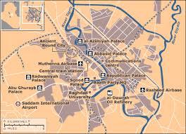 baghdad world map news iraq key maps