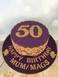 50 birthday cake purple and gold 50th birthday cake mel s amazing cakes