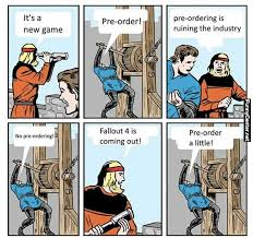 Funny Fallout Memes - fallout 4 pre order meme funny center fallout memes