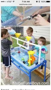 diy sand and water table pvc diy pvc playhouse diy sand water sensory bin table 60 minutes