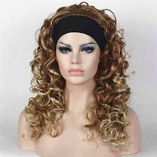 headband wigs long curly blonde brown synthetic headband wig women s wigs equal