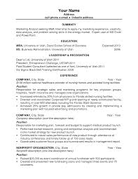 Mba Resume Templates First Resume Template Berathen Com