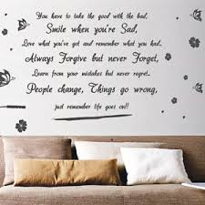 life goes on wallpapers life goes on butterfly flower art wall quote stickers wall decals
