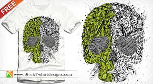 skull ornament free vector t shirt design illustration free vector