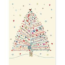 season s greetings tree large boxed cards cards
