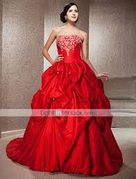 ball gown strapless chapel train taffeta wedding dress with