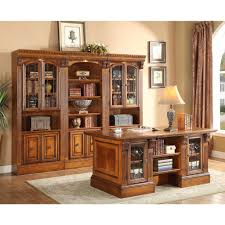 home office furniture wall units parker house huntington executive desk with library wall unit for
