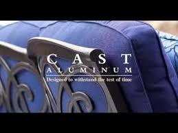 Solid Cast Aluminum Patio Furniture by How To Clean Cast Aluminum Patio Furniture Youtube