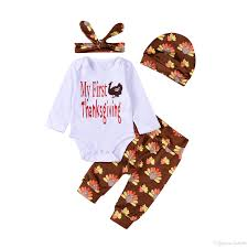 2017 new happy thanksgiving clothes suit newborn gift suit