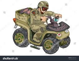 futuristic military jeep military quad bike cartoon stock vector 183001919 shutterstock