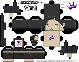 cubeecraft of yumi ishiyama from cartoon code lyoko skgaleana