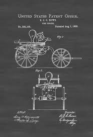 1882 fire engine patent patent print wall decor fireman gift 1882 fire engine patent patent print wall decor fireman gift firehouse decor