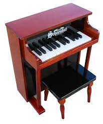Key Bench Amazon Com Schoenhut 25 Key Traditional Spinet With Bench Toys