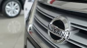nissan logo nissan logo on the bumper of the car stock video footage videoblocks