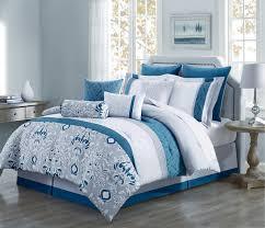 Ivory Comforter Set King Piece Chloe Navy Gray Taupe Reversible Comforter Set