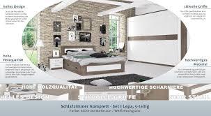 Bilder Schlafzimmer Amazon Schlafzimmer Komplett Set I Lepa 5 Teilig Farbe Eiche
