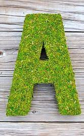 moss covered letters diy moss covered letters easy the decorated n exle