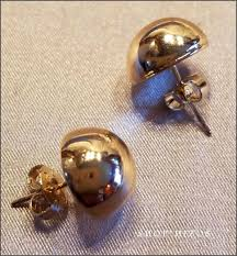 large stud earrings classic gold half dome large 12 mm stud earrings ebay