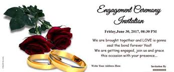 engagement ceremony invitation free engagement invitation card online invitations