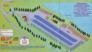 Ohio Campgrounds Map by Sandy Riverfront Rv Park Near Portland Oregon