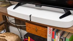 Sound Bar On Top Or Below Tv Sonos Playbase Review An Expensive Tv Speaker That U0027s Also Good At