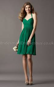 short green chiffon bridesmaid dresses