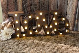 Custom Metal Signs For Home Decor by Lighted Marquee Love Sign Wedding