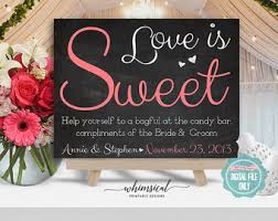 Wedding Buffet Signs by Candy Table Signs Etsy