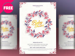 baby shower invitation templates by free psd dribbble