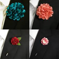 lapel flowers 2018 large flower fashion lapel flowers boutonniere stick pin