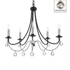 Chandelier Magnetic Crystals Buy Wrought Iron Crystal Chandeliers From Bed Bath U0026 Beyond