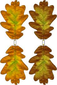 brown and yellow paper oak leaf decoration rooftop post printables