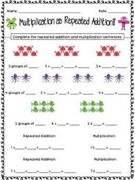 ideas of multiplication by repeated addition worksheets for your