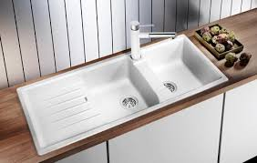 Blanco  Lexa S Double Kitchen Sink Drainboard Évier - Blanco kitchen sinks canada