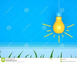 blue free light bulbs yellow light bulb on blue background stock illustration