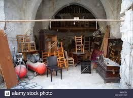 Old Wooden Furniture Small Business Local Wooden Furniture Workshop In The Old Turkish