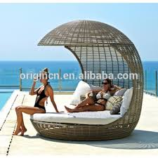 exotic coconut shaped queen size outdoor round chaise lounge