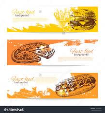 banner design ideas banners of fast food design hand drawn illustrations splash blob