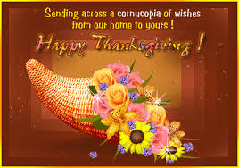 sending across a cornucopia of wishes happy thanksgiving
