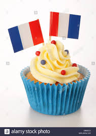 Dessert Flags French Flag Cupcake Stock Photo Royalty Free Image 47777299 Alamy