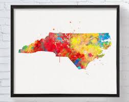 nc state cus map carolina map etsy