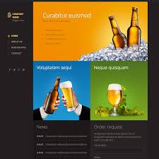 modern beer responsive wesbite template