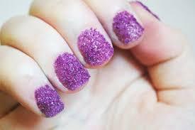 diy sugar glitter nails beautylish