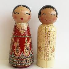 indian wedding cake toppers tiffanys painted boxes indian and groom cake