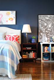 Dark Blue Accent Wall by 20 Bold U0026 Beautiful Blue Wall Paint Colors Apartment Therapy